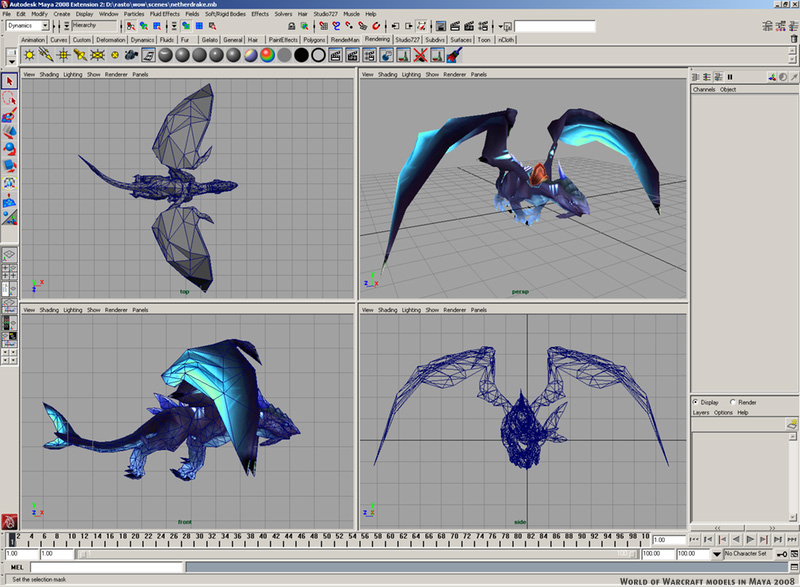 Cg blog world of warcraft 3d models in 3d model editor